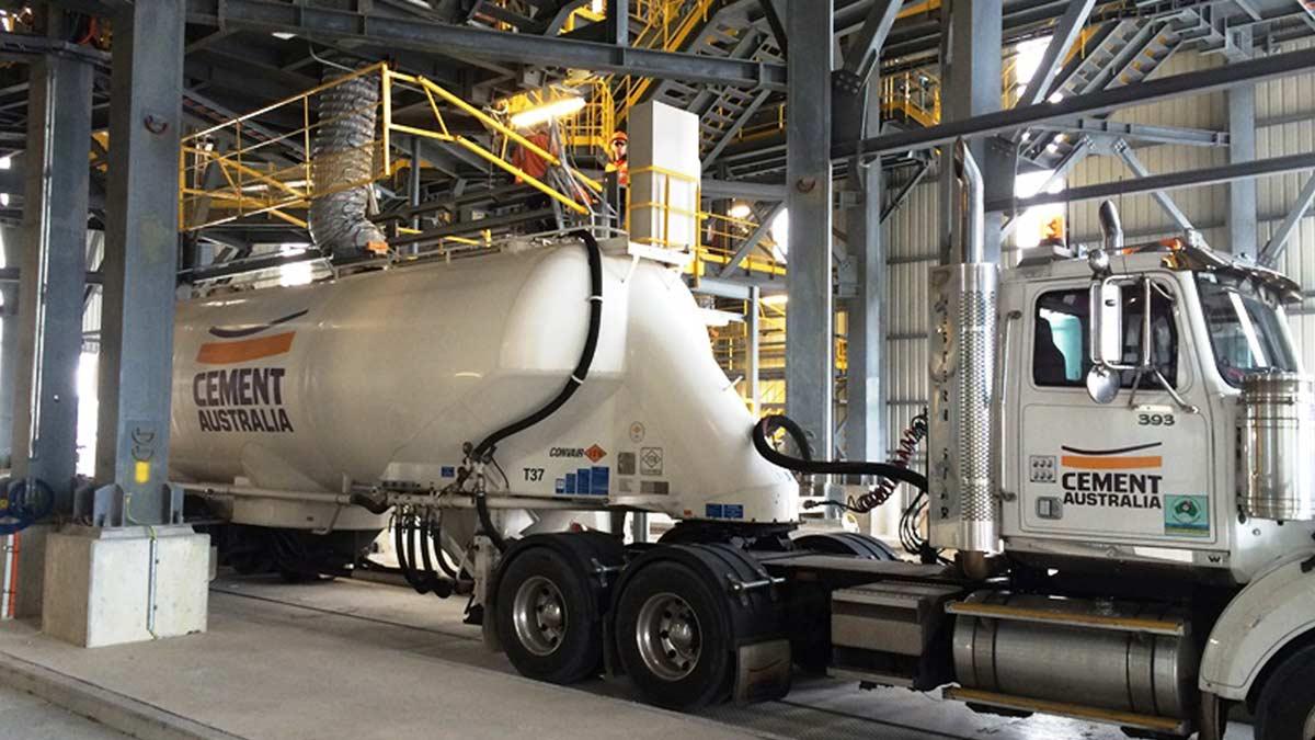 Cement, Semi Tractor Trailer, Australia