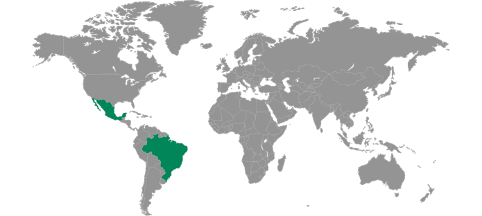 Levy Locations in Central and South America