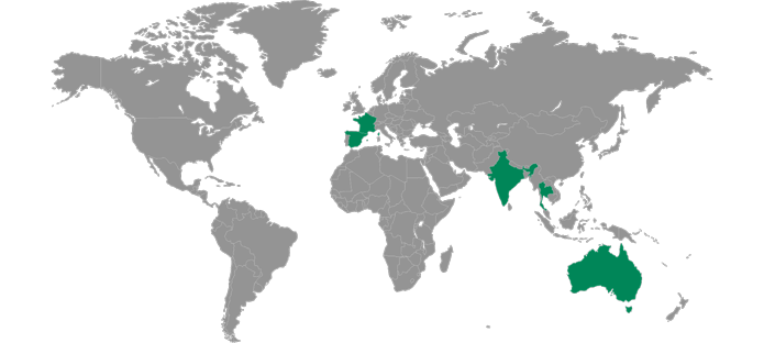 Levy Locations in Europe, Asia, and Australia
