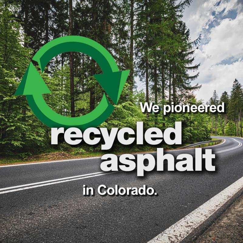 Levy, Pioneering Recycled Asphalt in Colorado